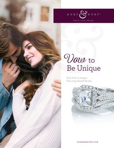 Your love is unique. Your engagement ring should be too! Stop by our La Crosse store to design your own ring with Ever&Ever (style shown is 122064)