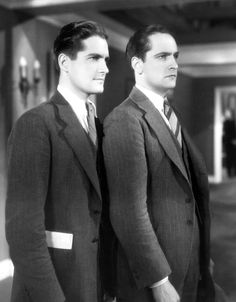 "Fredric March and his ""Paramount"" stand-in, early 1930s"
