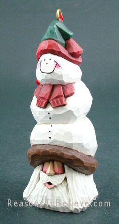 Snowman Santa ornament - David Francis