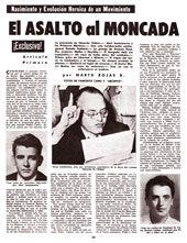 Facsímil de la página de BOHEMIA donde se publicó el reportaje sobre los sucesos del Moncada