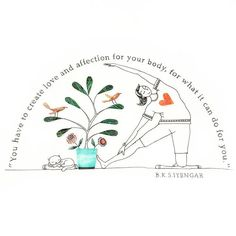 Love and affection for your body! . . . . . . #illustration #yoga #art #drawing #ink #curves #yogapants #cats #birds #quotes #quoteoftheday #wallart #australia #sunnyday #affection #designer #plants #love #hearts #designspiration #illustrator #picame #scrapbooking