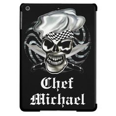 Skull Chef iPad Barely There Case Cover For iPad Air