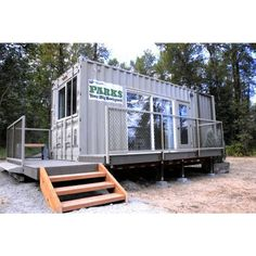 The Tolt Campground unveiled its first new Camping Container last September, an upcycled surplus shipping container that utilizes. King County, County Park, Shipping Container Design, Radiant Heat, Design Firms, Small Living, Recreational Vehicles, Tiny House, Camping