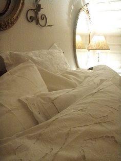soft pillows..soft lighting...