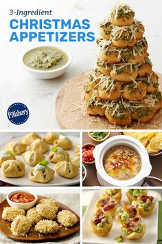 Appetizers That Know How to Party Make Christmas apps easier (hello, Pillsbury™ refrigerated dough!) so you can focus on sharing memories with your family—not slaving away in the kitchen! Christmas Party Food, Christmas Cooking, Christmas Apps, Christmas Treats, Christmas Time, Xmas Party, Christmas Appetizers, Appetizers For Party, Appetizer Recipes