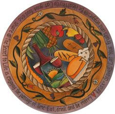 Sticks Lazy Susan by Sarah Grant, Bread and Wine Theme