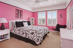 Awesome Black And Pink Bedroom Ideas With White Decorating Room