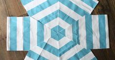 Diy Sewing Projects DIY floor pouf tutorial - A step by step tutorial to make your own DIY floor pouf. The popular hexagon style pouf can be made in under an hour with basic sewing skills. Sewing Basics, Sewing Hacks, Sewing Tutorials, Basic Sewing, Sewing Patterns Free, Free Sewing, Fabric Crafts, Sewing Crafts, Diy Crafts