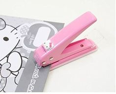 Hello Kitty Punch Paper 1 Hole Tool Craft Cute Pink Girl Baby Kid School Office
