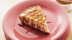Looking for a classic dessert? Enjoy this apple flavored cheesecake drizzled with caramel topping – a yummy treat.