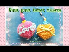 Diy yarn Pompom heart  tutorial 心形毛冷球教學 - YouTube