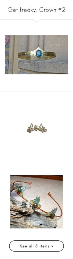 """""""Get freaky; Crown #2"""" by sara598d on Polyvore featuring accessories, hair accessories, grey, shell hair accessories, tiara crown, seashell tiara, crown tiara, crown hair accessories, jewelry and crowns"""