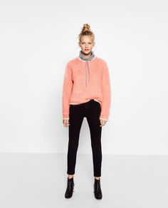 Wear a fuzzy sweater over a more athleisure pullover.Zara Limited Edition Mohair Sweater, $99.90, available at Zara. #refinery29 http://www.refinery29.com/2016/10/126411/new-zara-fall-clothing-collection-photos#slide-35