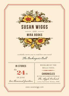 The Beekeeper's Ball book club invite!  #books #reading #bookclub #susanwiggs #thebeekeepersball
