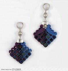 Stylowi.pl - Odkrywaj, kolekcjonuj, kupuj Textile Jewelry, Beaded Jewelry, Handmade Jewelry, Shibori, Soutache Earrings, Beaded Embroidery, Seed Beads, Jewerly, Diy And Crafts