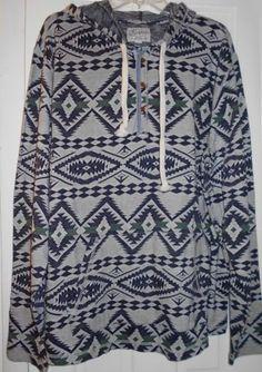 00dd023f21 NEW  89 LUCKY BRAND Native American Indian Blanket Hoodie Shirt Jacket~XXL