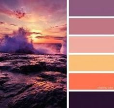 Sunset Color Palette, Orange Color Palettes, Sunset Colors, Colour Pallete, Colour Schemes, Colour Combinations, Painting Wallpaper, Diy Painting, Painting Kids Furniture