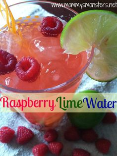 Raspberry Lime Flavored Water... an alternative to diet soda!