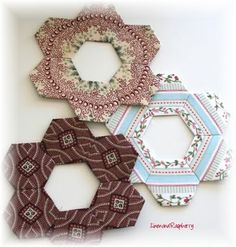 fussy cuts--would be cute with embroidered center, or as a photo frame