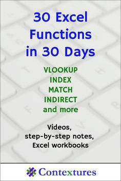 Thanks for participating in the 30XL30D challenge, that ended yesterday. My favourite Excel function in the series was INDEX — I learned a few useful tricks while researching that one! How about you? As...