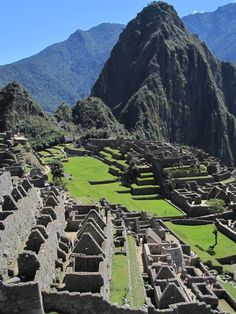 Peru- Machu Piccu. want to go. and while I'm there, maybe I'll head on over to the Nazca Lines... ya know.