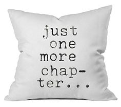 Oh Susannah Just One More Chapter Throw Pillow Cover  Inspiring Pillowcase 1 18x18 inch White -- More info could be found at the image url.