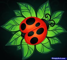 lady bugs | How to Draw a Ladybug Tattoo, Tattoo Ladybug, Step by Step, Tattoos ...