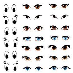 Distintos modelos  de ojos.