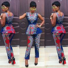 African Clothing Top Fashion Polyester Women Dashiki African Dress Robe Africaine 2016 Hot Stamp Slim Suit Two Pieces Of Totem African Dresses For Women, African Print Dresses, African Print Fashion, Africa Fashion, African Attire, African Wear, African Fashion Dresses, African Women, African Prints