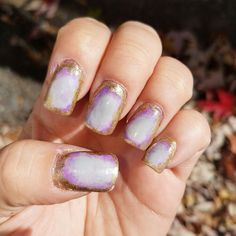 #geode #nailart #holographic #purple #nails