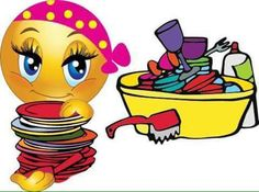 This smiley is no less glamorous just because she's doing the dishes. Smileys, Funny Emoticons, Funny Emoji, Smiley Emoticon, Emoticon Faces, Smiley Faces, Meme Faces, Funny Faces, Emoji Clipart