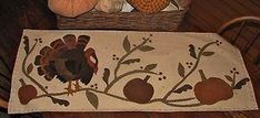 Free+Primitive+Penny+Rug+Patterns | Primitive Penny Rug Wool Applique Pattern Let's Talk Turkey | eBay by Lea Ann Barnhart