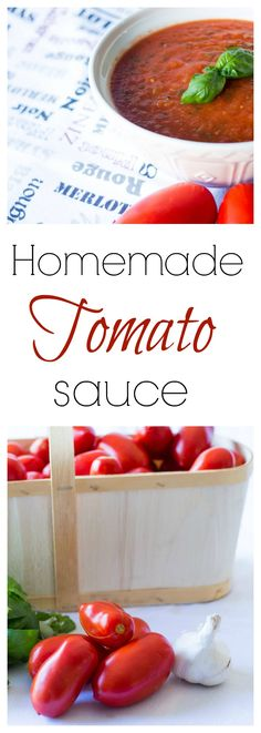 homemade tomato sauce made with beautiful freshly picked plum tomatoes. It is really delicious, you can eat just Iike this on pasta, but it also serves me as my base for my vodka sauce, my pizza sauce or other tomato-based sauces. Find the recipe here : https://www.noblerecipes.com/homemade-tomato-sauce/