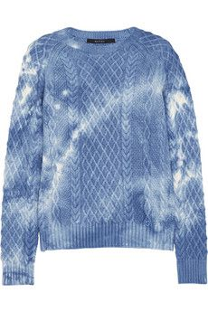 Gucci - Tie-dyed cable-knit wool sweater ed696fbd1