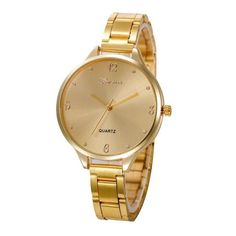 554f0f302d Crystal Stainless Steel Analog Quartz Wrist Watch Female Sports