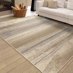 "Shop for Carolina Weavers Soft Shaded Lines Whistler Beige Area Rug (7'10"" x…"
