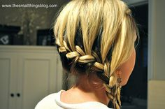 Another one sided braid. This blog is great! She is a professional hair stylist and has GREAT tutorials!!!