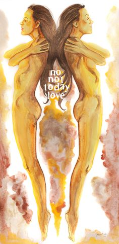 """No not today love"" by Jasleni Figure Drawing, Mixed Media, Watercolor, Portrait, Abstract, Artwork, Prints, Art Work, Watercolour"