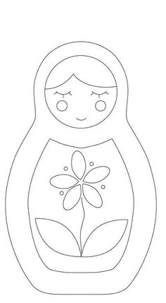 Embroidery Patterns Entretelas y patchwork: Patrones Felt Patterns, Applique Patterns, Craft Patterns, Hand Embroidery, Embroidery Designs, Felt Templates, Applique Templates, Card Templates, Matryoshka Doll