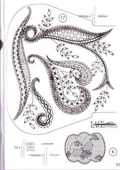 Lace Express 2009 special - Maria del Carmen - Álbumes web de Picasa Bobbin Lace Patterns, Bead Embroidery Patterns, Bead Loom Patterns, Needle Tatting, Tatting Lace, Needle Lace, Filet Crochet, Crochet Motif, Crochet Edgings