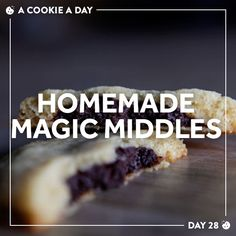 A homemade version of a discontinued Keebler favorite: Magic Middles are a chewy cookie with a melt-in-your-mouth chocolate middle.