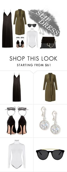 """""""SLIP DRESS"""" by itsolajohnson on Polyvore featuring Raey, Miss Selfridge, Valentino, Fantasia by DeSerio, Wolford, Smoke x Mirrors and Chloé"""
