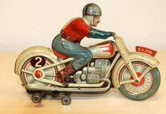 Blikken Technofix Motorfiets uit de 50er jaren.