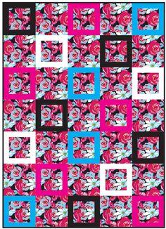 Michael Miller Fabrics Urban Bouquet Quilt - FREE QUILT PATTERNS - GET INSPIRED