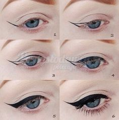 The most important part of the eye makeup is Eyeliner. It would not be wrong to say that eyeliner in fact complete the overall makeup looks. Diy Beauty Hacks, Beauty Hacks For Teens, Beauty Tricks, Beauty Ideas, Eye Tricks, Eye Liner Tricks, Beauty Advice, Beauty Tutorials, Perfect Cat Eye