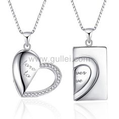 New 2pcs Empty Empty Heart Shape Living Memory Floating Locket Pendant 42*36*8mm
