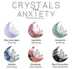What's you're go to stone for soothing anxiety? Blue lace agate & lepidolite and have always been a massive help when I'm in… Crystal Healing Stones, Crystal Magic, Crystals And Gemstones, Stones And Crystals, Wicca Crystals, Crystal For Anxiety, Anxiety Crystals, Stones For Anxiety, Modern Witch