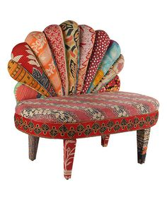 Love this Red & Gray Peacock Love Chair on #zulily! #zulilyfinds