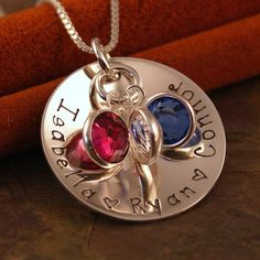 Hand Stamped Mommy Jewelry  Personalized by IntentionallyMe, $46.00