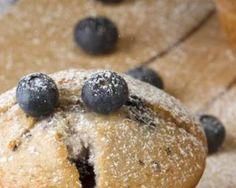 Muffins légers aux myrtilles fraîches